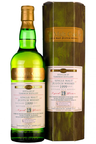 1999 teaninich 19 year old single cask old malt cask 20th anniversary hunter laing highland single malt scotch whisky