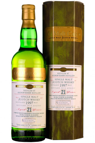1997 auchentoshan 21 year old single cask old malt cask 20th anniversary hunter laing lowland single malt scotch whisky