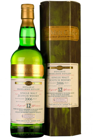 2006 craigellachie 12 year old single cask old malt cask 20th anniversary hunter laing speyside single malt scotch whisky