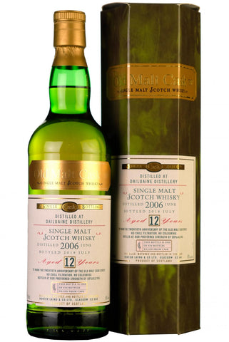 2006 dailuaine 12 year old single cask old malt cask 20th anniversary hunter laing speyside single malt scotch whisky
