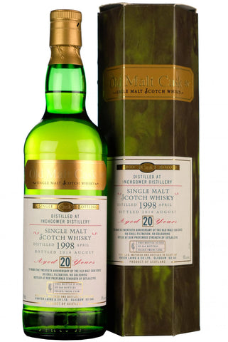 1998 inchgower 20 year old single cask old malt cask 20th anniversary hunter laing speyside single malt scotch whisky