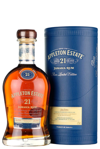 appleton estate 21 year old jamaica rum rare limited edition dark rum