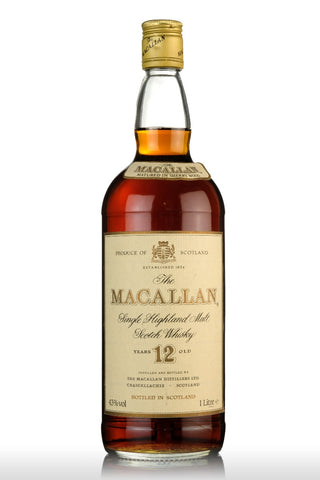 macallan 12 year old sherry cask 1 litre, speyside single malt scotch whisky whiskey