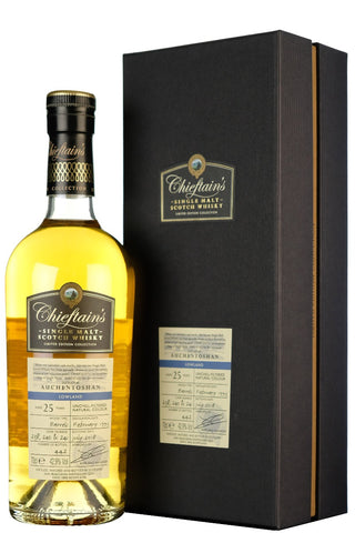 auchentoshan 25 year old chieftains lowland single malt scotch whisky whiskey