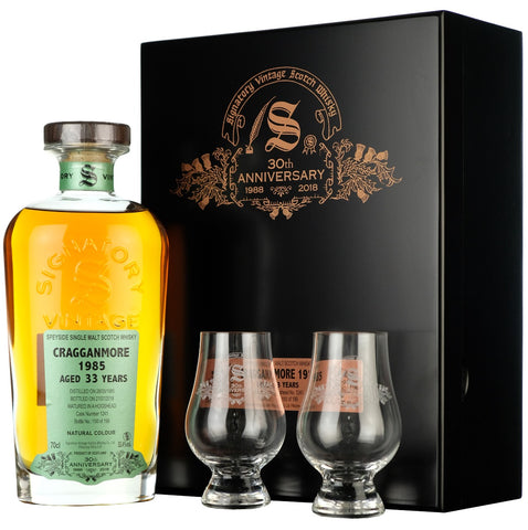 Craagganmore 1985 33 Year Old Signatory Vintage 30th Anniversary cask strength single cask speyside single malt scotch whisky