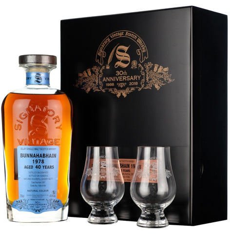 Bunnahabhain 1978 40 year old Signatory Vintage 30th Anniversary cask strength single cask islay single malt scotch whisky