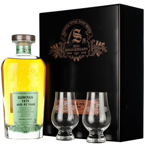 Glencraig 1976 42 Year Old Signatory Vintage 30th Anniversary cask strength single cask speyside single malt scotch whisky