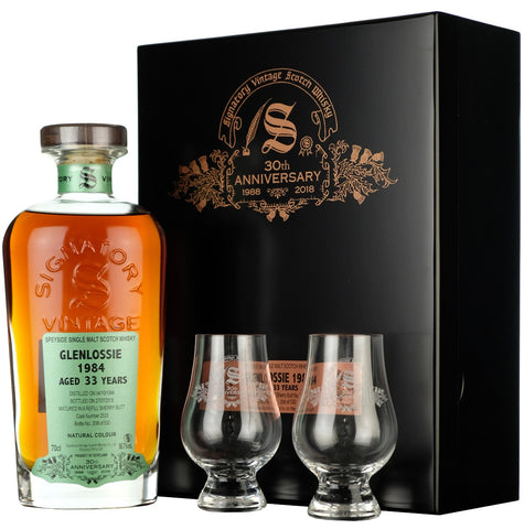 Glenlossie 1984 33 Year Old Signatory Vintage 30th Anniversary cask strength single cask speyside single malt scotch whisky