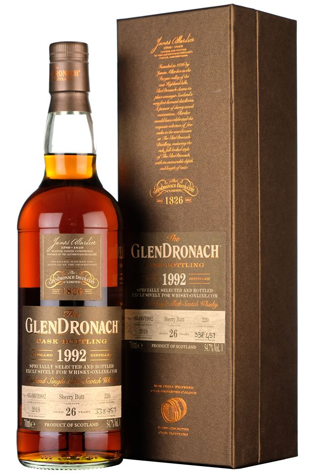 Glendronach 1992 26 Year Old Whisky-Online Exclusive Cask Strength Single Cask Highland Single Malt Scotch Whisky