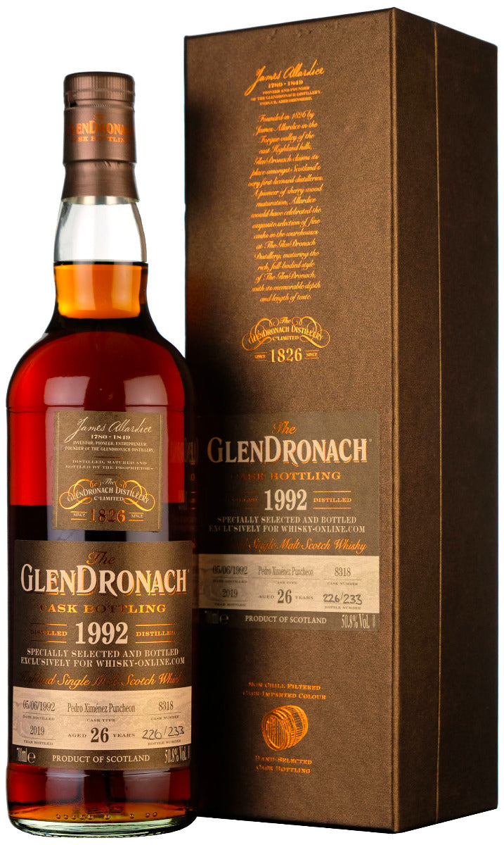 VIP Glendronach 1992-2019 | 26 Year Old Whisky-Online Exclusive Cask #8318