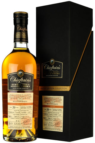 Miltonduff 1998-2019 | 20 Year Old | Chieftain's | Casks 94051, 94052
