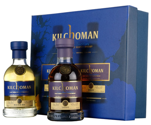 Kilchoman Machir Bay & Sanaig | 20cl Gift Pack