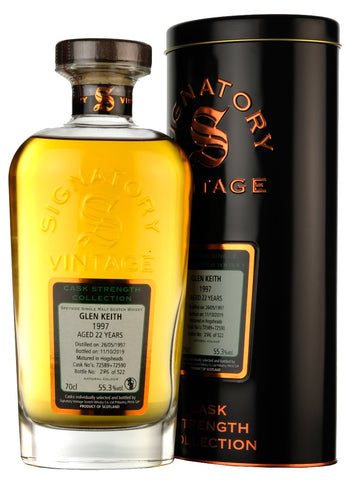 Glen Keith1997-2019 | 22 Year Old | Signatory Vintage