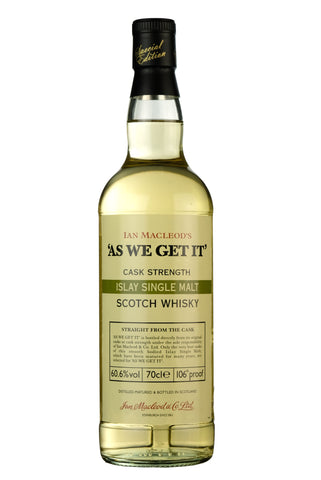 As We Get It Cask Strength Islay Single Malt | Ian Macleod