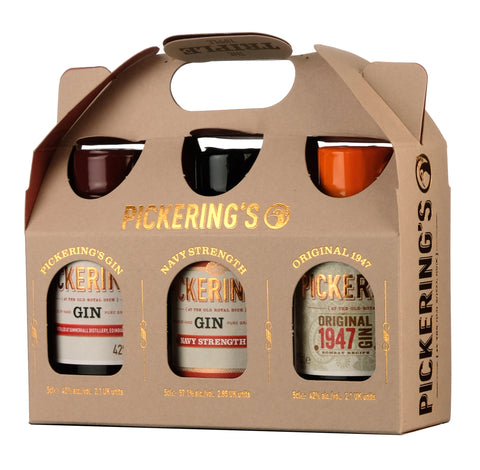 Pickering's Gin Triple Tipple Gift Pack