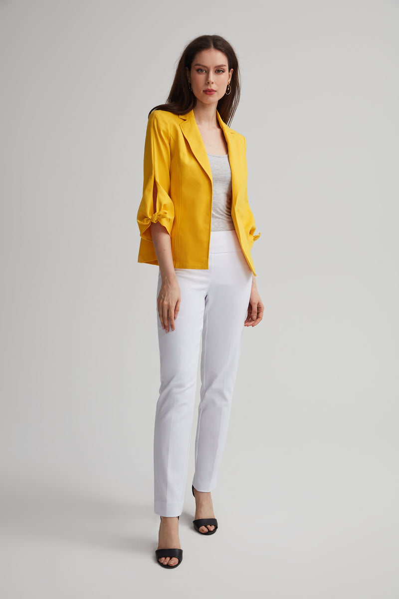 Bow Sleeve Bi-Stretch Blazer