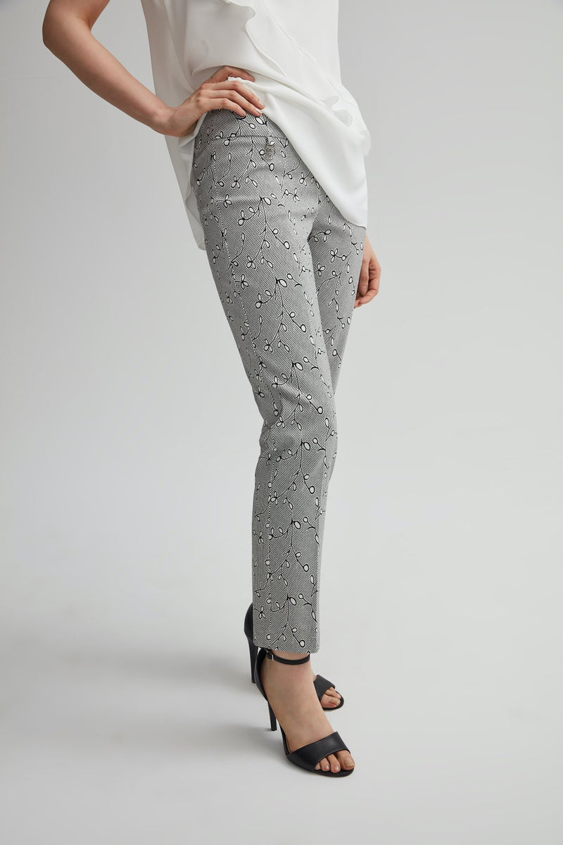 Perfect Fit Slim Leg Vine Print Ankle Pant