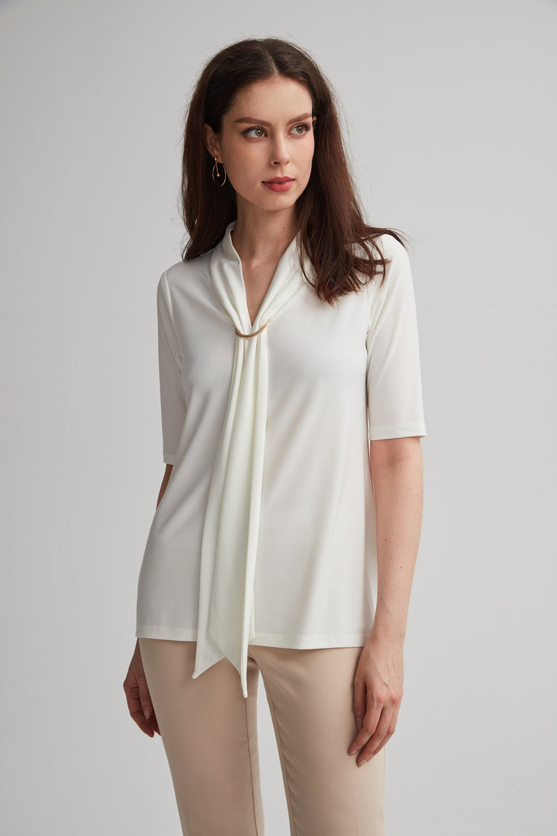 V-Neck Pull Tie Top