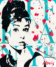 Load image into Gallery viewer, Audrey Hepburn print of painting by Barry Novis