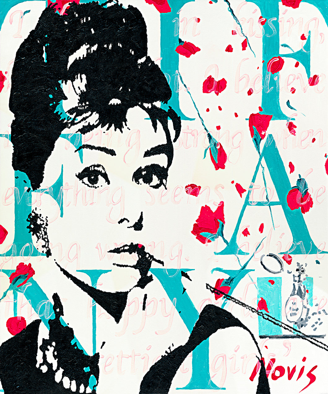 Audrey Hepburn print of painting by Barry Novis