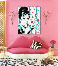 Load image into Gallery viewer, Audrey Hepburn print by Novis for interior design