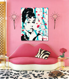 Audrey Hepburn print by Novis for interior design