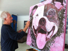 Load image into Gallery viewer, More progress on the Groover/Staffy painting.