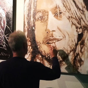 Barry Novis painting Keith Urban