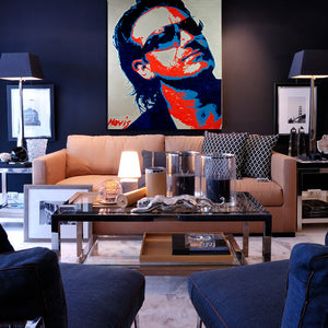 Bono - painting by Barry Novis