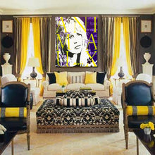 Load image into Gallery viewer, Brigitte Bardot painting in Parisian room