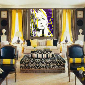 Brigitte Bardot painting in Parisian room