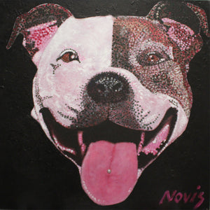 Groover the Staffy art print