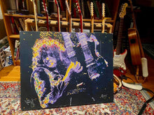 Load image into Gallery viewer, Jimmy Page portrait by Novis, signed by Jimmy Page