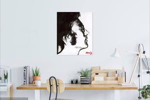 John Lennon Starting Over on wall - art by Novis