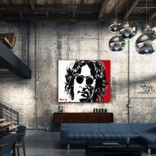 Load image into Gallery viewer, Novis portrait of John Lennon in NY warehouse apartment