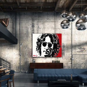 Novis portrait of John Lennon in NY warehouse apartment