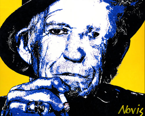 Keith Richards - Hurricane - art print