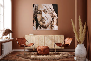 Keith Urban art print on wall - art by Novis