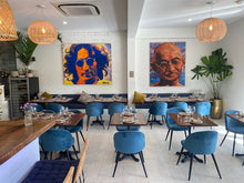 Load image into Gallery viewer, John Lennon & Gandhi by Novis at PUCCA restaurant Noosa