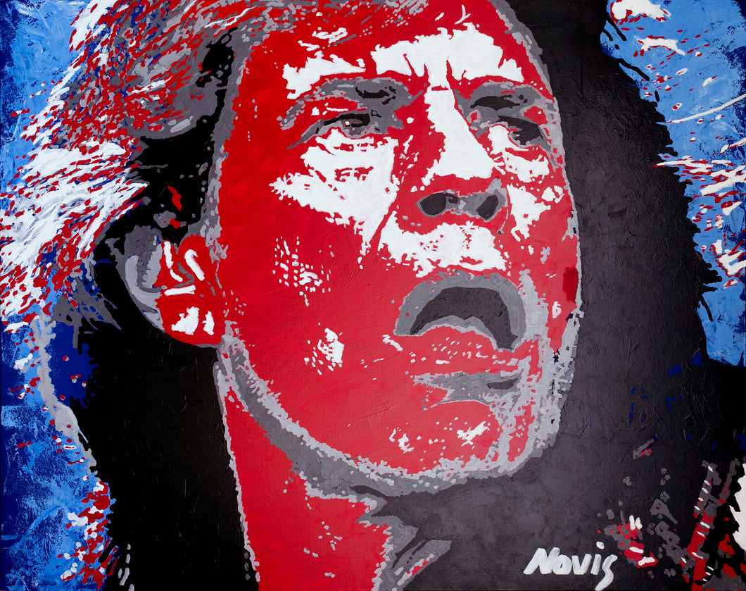 Mick Jagger Jumpin Jack Flash art print