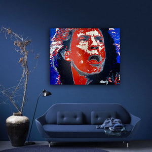 Mick Jagger portrait for interiors
