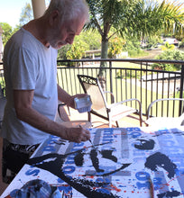 Load image into Gallery viewer, Artist Barry Novis painting Steve McQueen
