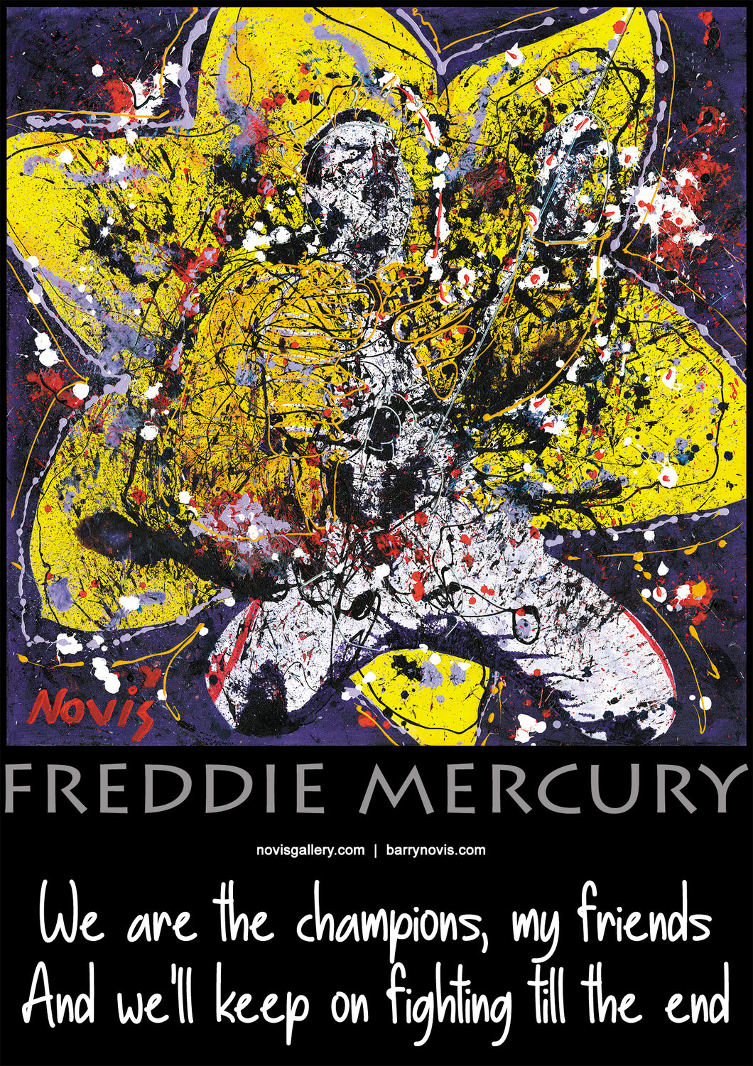 FREDDIE MERCURY POSTER - we are the champions