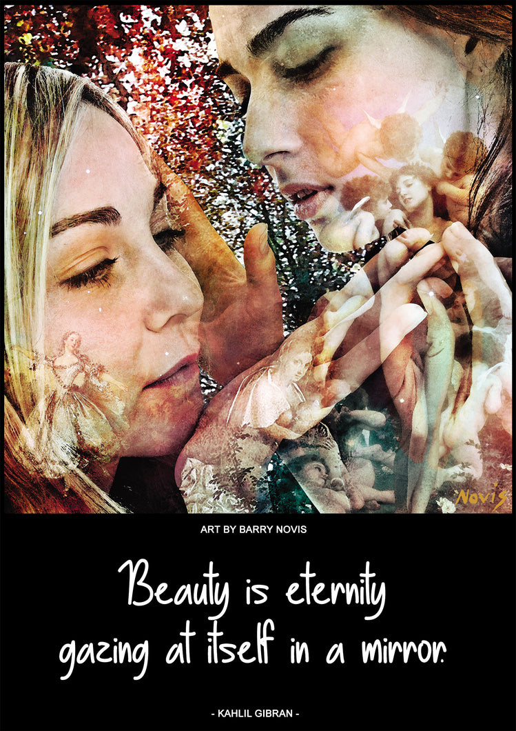 Kahlil Gibran poster on BEAUTY with art by Novis
