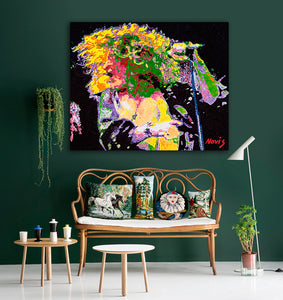 Robert Plant portrait for interiors