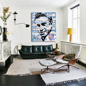 Steve McQueen portrait for interiors