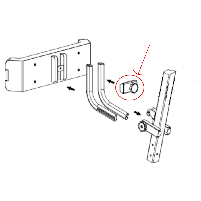 Bestcare Knob bolt and U-bracket for Lifts