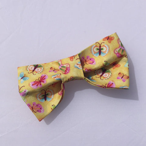 butterflies yellow bow tie front