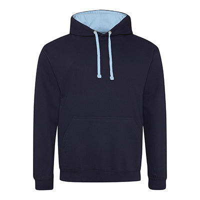 Varsity Contrast Hoodie - French Navy / Sky Blue - Equipment Zone Online Store