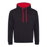Varsity Contrast Hoodie - Jet Black / Fire Red - Equipment Zone Online Store